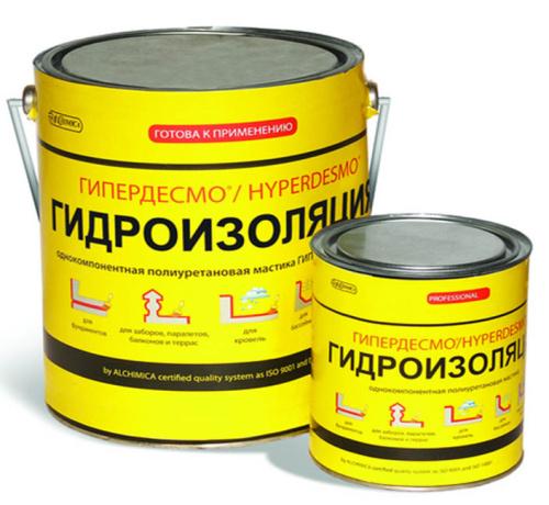 Полиуретановая жидкая мембрана ГИПЕРДЕСМО Классик (Hyperdesmo Classic) 6 кг.